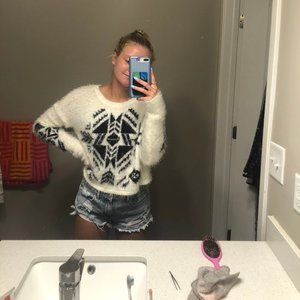 Hollister Cropped Fuzzy Sweater